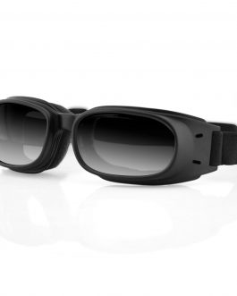 Bobster Piston Goggle, Black Frame, Smoked Reflective Lens