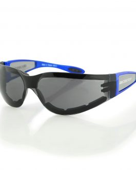Bobster Shield II Sunglass, Blue Frame, Smoked Lens