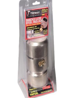 Trimax THP3XL Hockey-Puck Shackle Trailer Door Lock-3 Pack