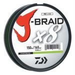 Daiwa J-Braid X8 Filler Spool 150M Chartreuse 15 lb. Test