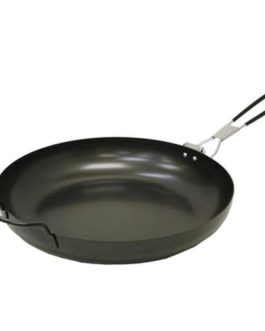 Coleman 12 Inch Steel Frying Pan W-Fldng Hndl Blk 2000016353